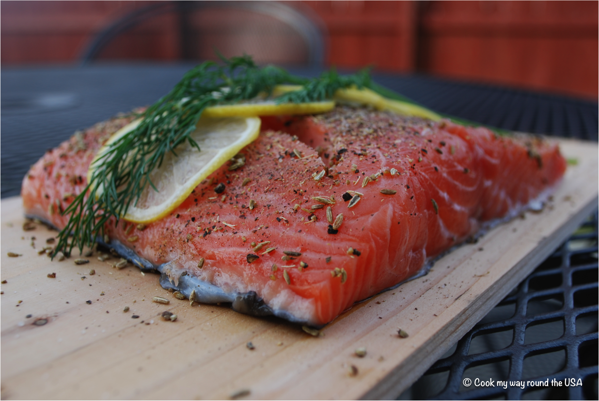 Cedar Plank-Grilled Salmon With Garlic, Lemon And Dill ...